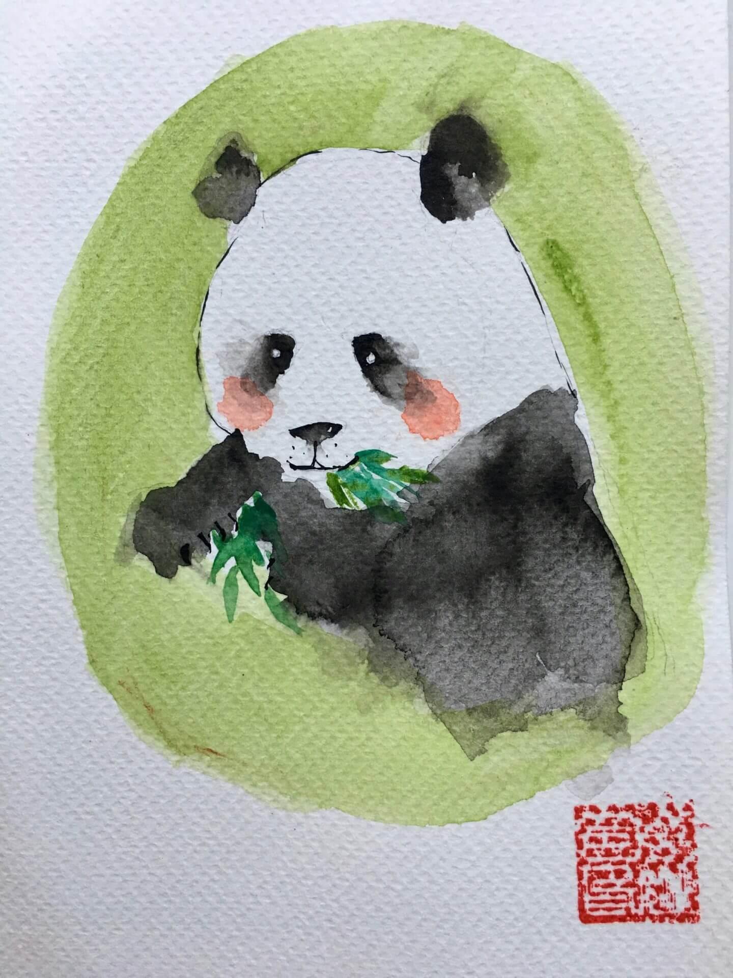 Chinese cute pandas and Mrs. Santa Claus