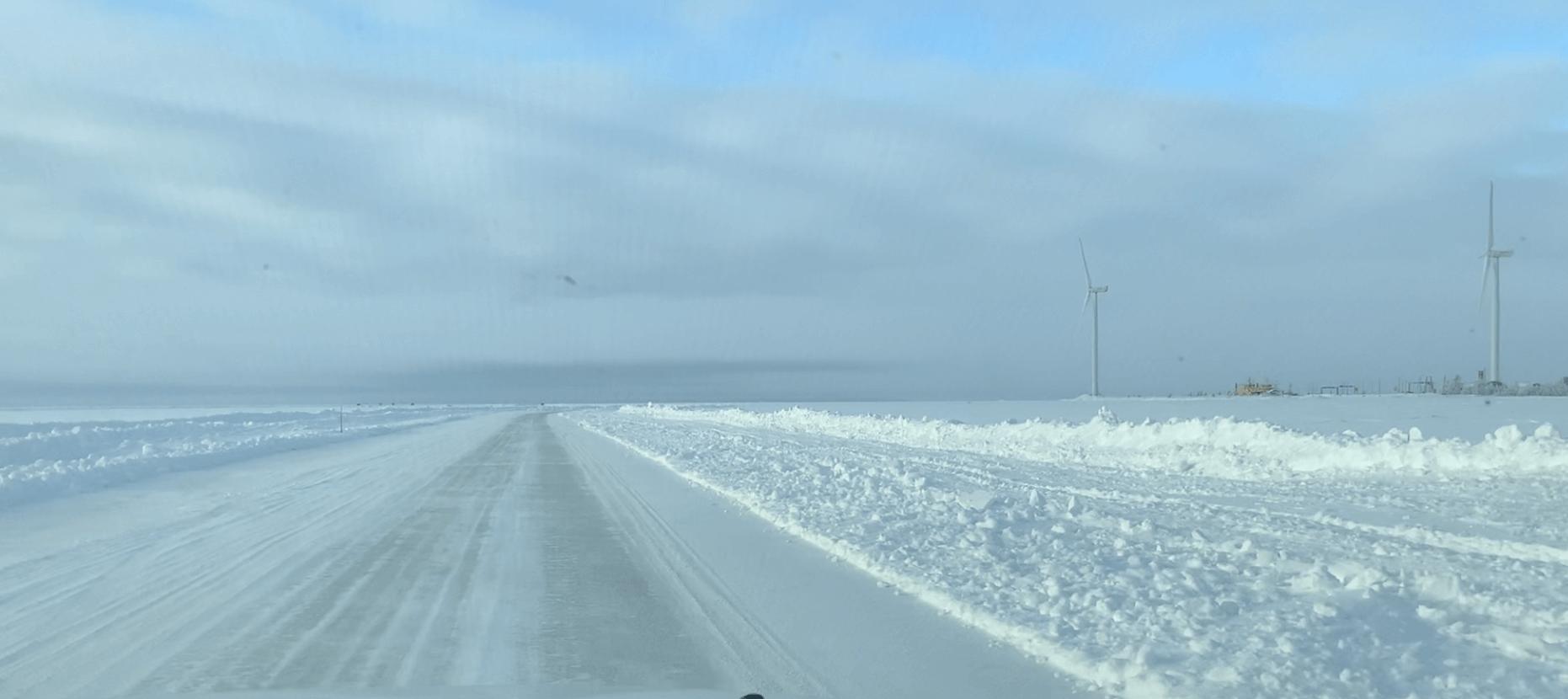 Ice road to Hailuoto